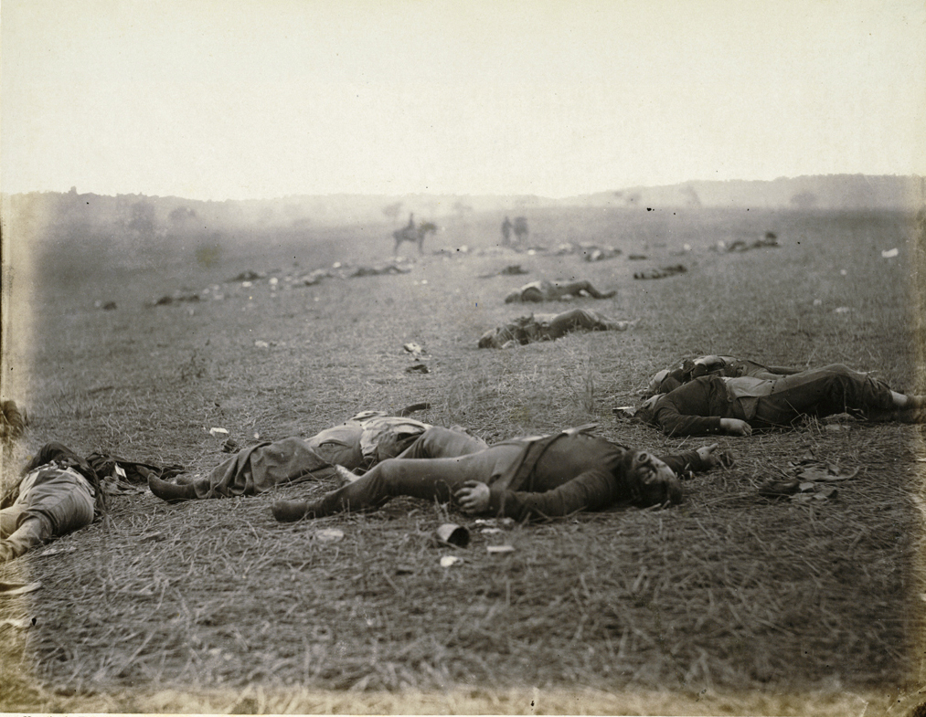 Timothy O\'Sullivan - A Harvest of Death - July, 1863