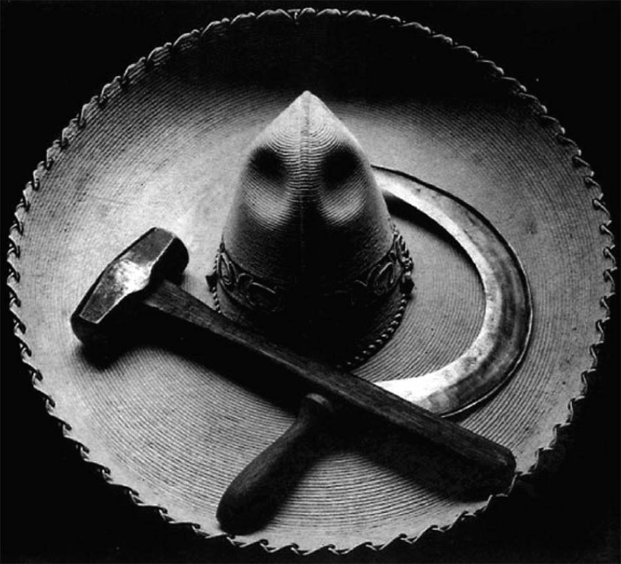 Tina Modotti Mexican sombrero with hammer and sickle 1927